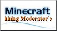 Minecraft the hiring page for Admins and Moderators island pvp skyblock server075