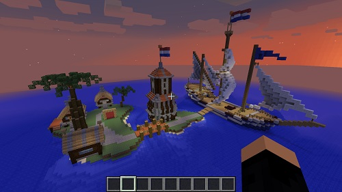 Amplified Spawn area Minecraft server Island PVP and SkyBlock
